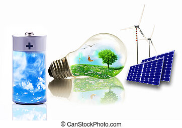 conceptual illustration of clean energy,