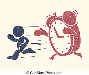 conceptual, ilustración, de, tiempo