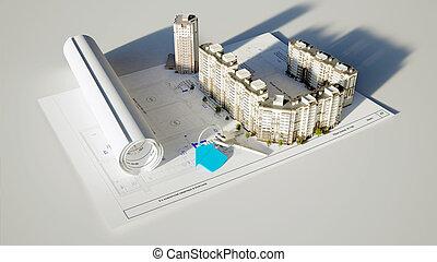 conceptual image built the house