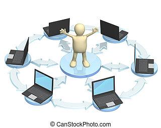 Conceptual image - global communication. Internet