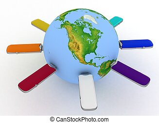 Conceptual image - global communication. Elements of this...