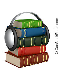 Audiobook - Conceptual image - new technologys. Audiobook