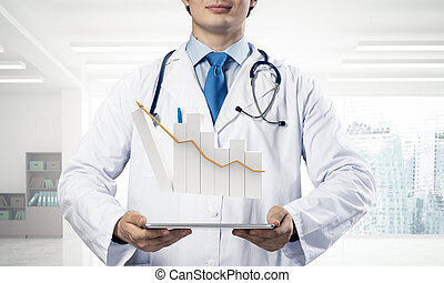 Conceptual image of analytical doctor