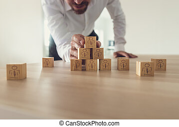 Conceptual image of business team and human resources