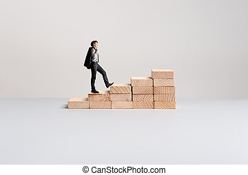 Conceptual image of business vision and determination