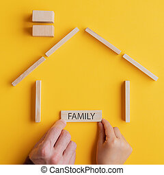 Conceptual image of family and unity