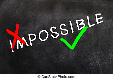Conceptual image of making the impossible possible