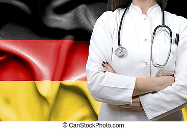 Conceptual image of national healthcare system in Germany