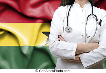 Conceptual image of national healthcare system in Ghana