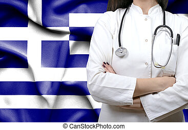 Conceptual image of national healthcare system in Greece