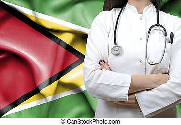 Conceptual image of national healthcare system in Guyana