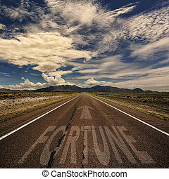 Conceptual Image of Road With the Word Fortune