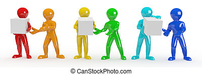 Conceptual image of teamwork. 3d - Conceptual image of...