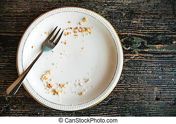 This is how we eat BLTs at my office. : funny |Empty Plate With Crumbs Clipart