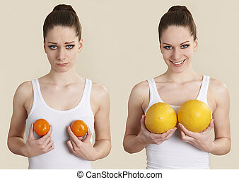 Conceptual Image To Illustrate Breast Enlargement Surgery