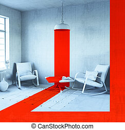conceptual, interior