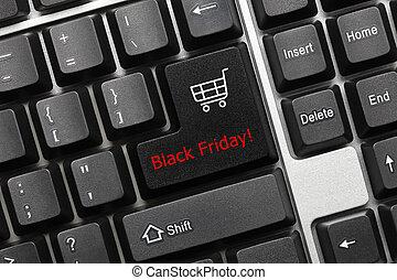 Conceptual keyboard - Black Friday