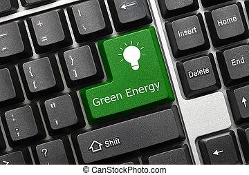 Conceptual keyboard  Green Energy