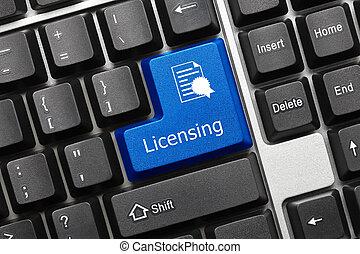 Conceptual keyboard - Licensing (blue key)