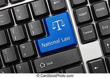 Conceptual keyboard - National Law (blue key)