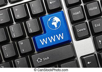 Conceptual keyboard - www (blue key)