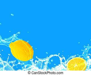 conceptual lemons in splashes