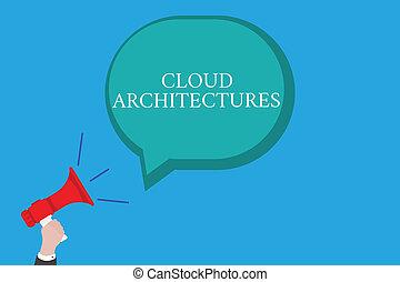 conceptual, letra de mano, actuación, nube, architectures., empresa / negocio, foto, texto, vario, dirigido, bases de datos, softwares, aplicaciones