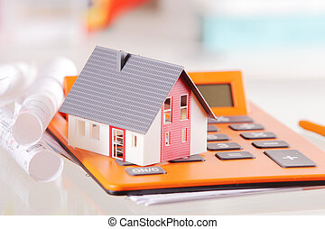 Conceptual Miniature Home on a Calculator Device