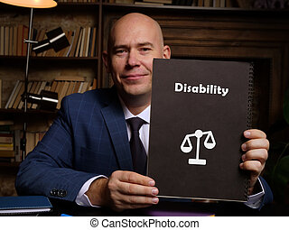 Conceptual photo about Disability with handwritten text.