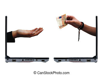 e-commerce - conceptual photo about e-commerce - human hand...
