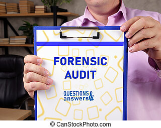 Conceptual photo about FORENSIC AUDIT with handwritten text.