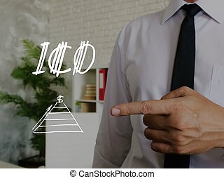 Conceptual photo about ICO with handwritten text.