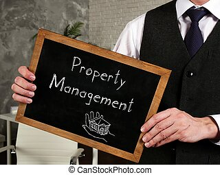 Conceptual photo about Property management with handwritten text.