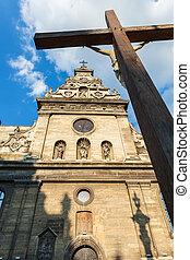 Conceptual photo Bernardine Church in Lviv. Ukraine.