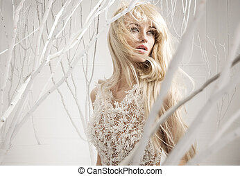 Conceptual picture of an attractive woman