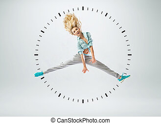 Conceptual picture of human clock