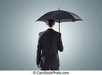 Conceptual picture of the sad businessman