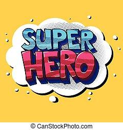 Super Hero lettering