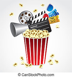 conceptual Popcorn - Conceptual popcorn with entries, movies...