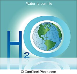 Conceptual poster water life