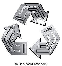conceptual, símbolo, reciclaje