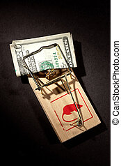 money trap - conceptual series: two money trap with dollar ...