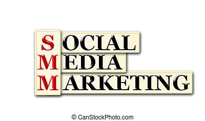 Conceptual SMM Social Media Marketing acronym on white