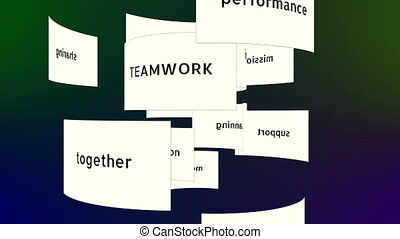 Conceptual Teamwork Words Animation