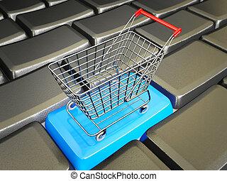 trolley - conceptual trolley stay in a black keys