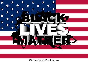Conceptual vector illustration about the Black Lives Matter movement.