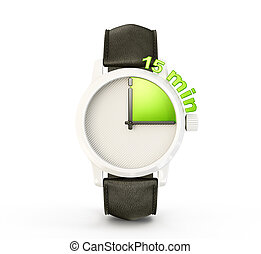 watch - conceptual watch isolated on a white background