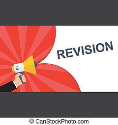 Conceptual writing showing Revision. Vector illustration