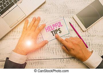 conceptueel, gegeven, informatie, foto, het tonen, zijn, tekst, tips., of, knowledge., meldingsbord, raad, behulpzaam, geheim