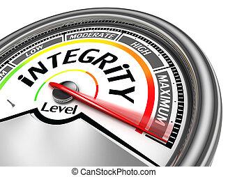 conceptueel, integriteit, meter